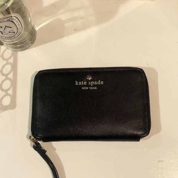 Kate Spade Leather Wristlet Wallet Card / Phone